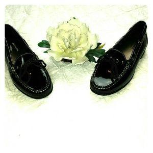 Clarks Black Patent Leather Loafer
